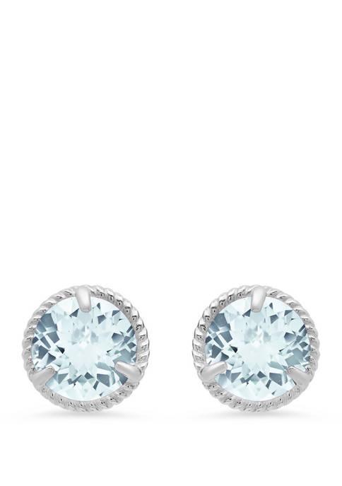1.6 ct. t.w. Aquamarine Stud Earrings