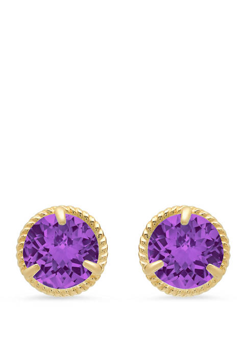 1.6 ct. t.w. Amethyst Stud Earrings