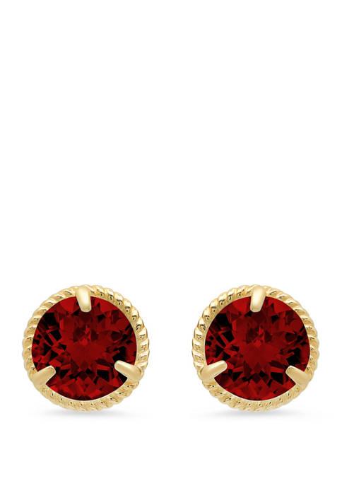 2 ct. t.w. Garnet Stud Earrings