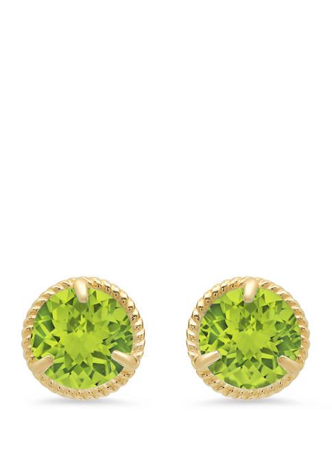 1.6 ct. t.w. Peridot Stud Earrings