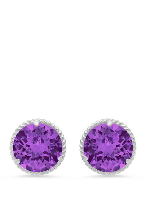 3.6 ct. t.w. Amethyst Stud Earrings