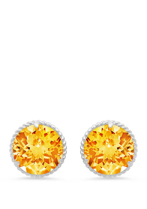 3.6 ct. t.w. Citrine Stud Earrings