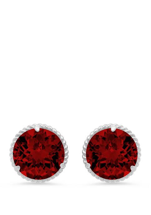 4 ct. t.w. Garnet Stud Earrings