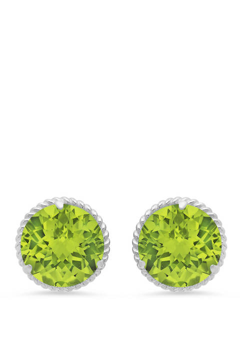3.8 ct. t.w. Peridot Stud Earrings