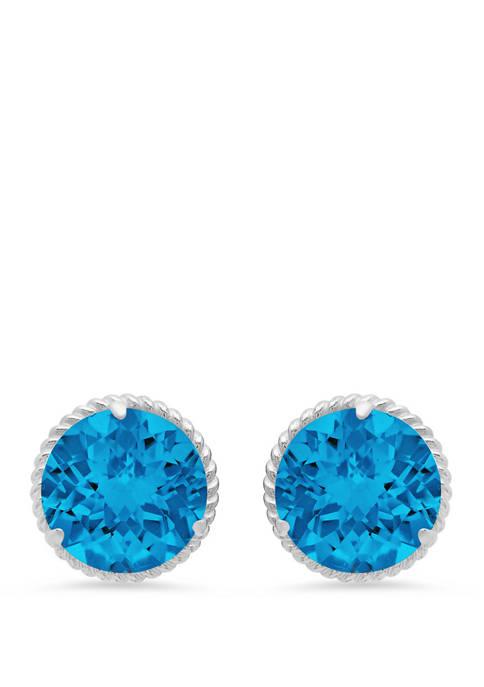 4 ct. t.w. Swiss Blue Topaz Stud Earrings