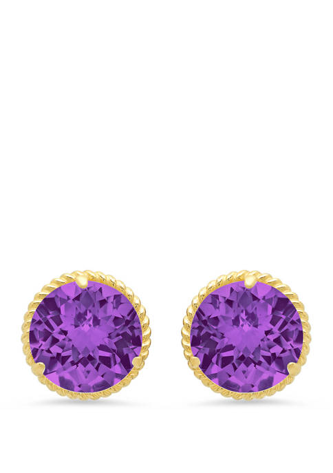 Belk & Co. Amethyst Stud Earrings