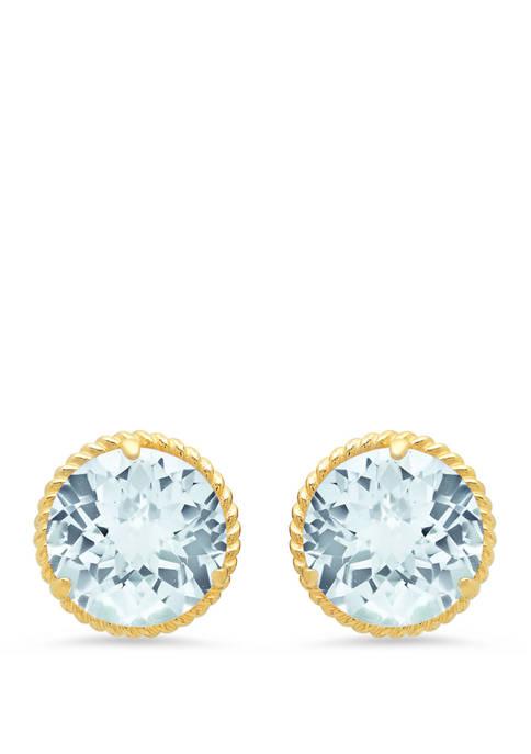 Belk & Co. Aquamarine Stud Earrings