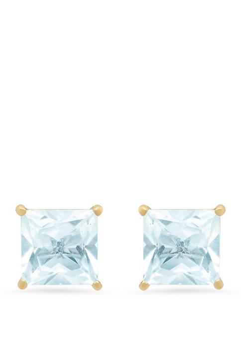 2.5 ct. t.w. Aquamarine Stud Earrings