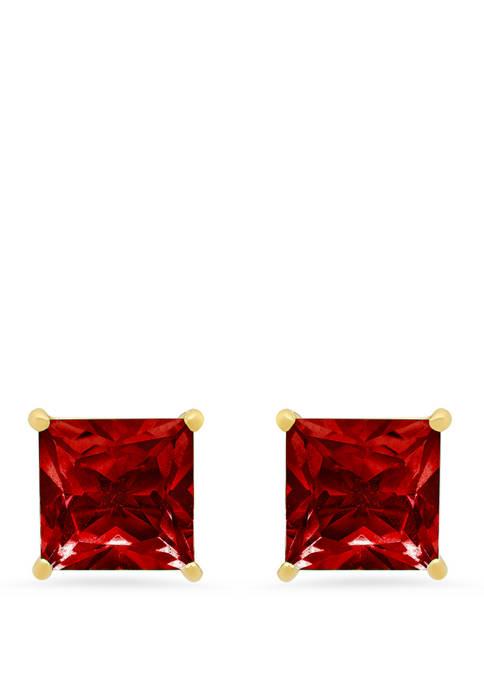 3 ct. t.w. Garnet Stud Earrings