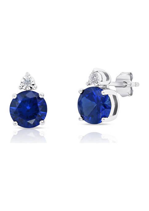 Belk & Co. 7 Millimeter Round Created Blue