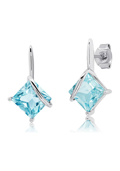 Belk & Co. 7 Millimeter Princess Cut Blue