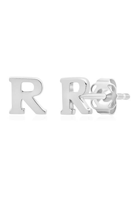Belk & Co. Letter R Stud Earrings in