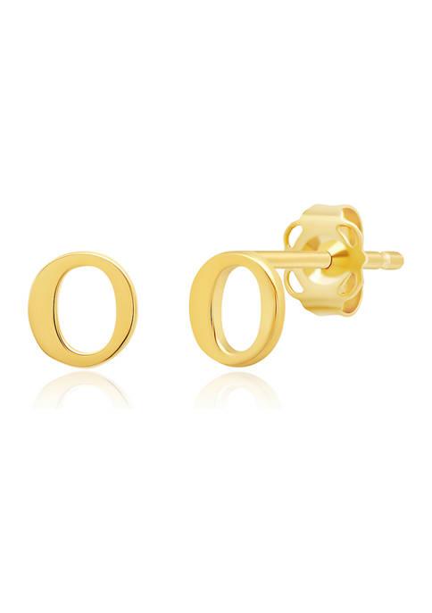 Belk & Co. 14K Yellow Gold Letter (O)