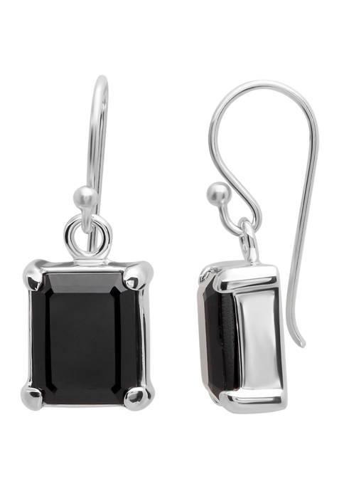 3 ct. t.w. Onyx Earrings in Sterling Silver