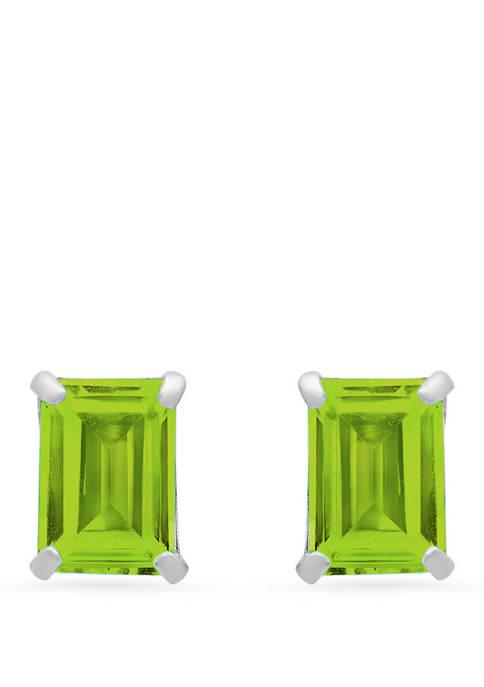 Belk & Co. 14k White Gold Solitaire Emerald-Cut