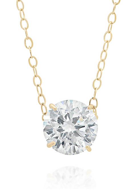 Belk & Co. Cubic Zirconia Pendant in 14k