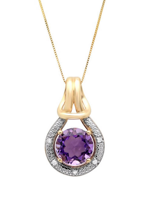 Belk & Co. 10K Yellow Gold Amethyst with