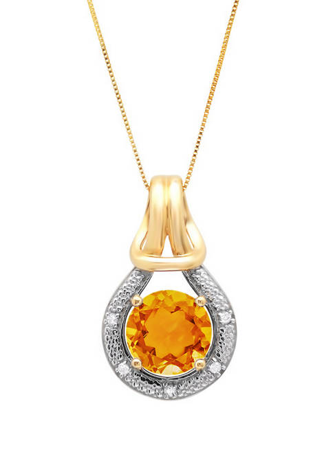 Belk & Co. 10K Yellow Gold Citrine with