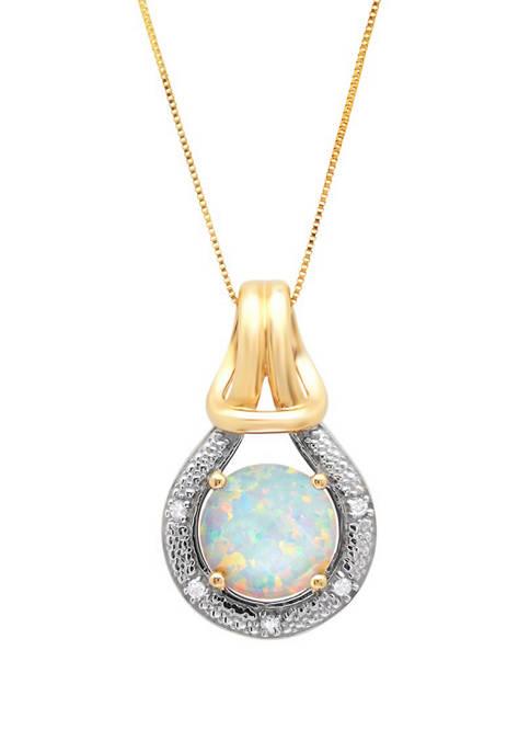 Belk & Co. 10K Yellow Gold Created Opal