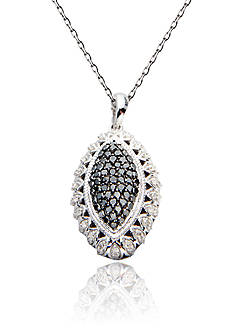 Belk & Co. Black & White Diamond Pendant in Sterling Silver