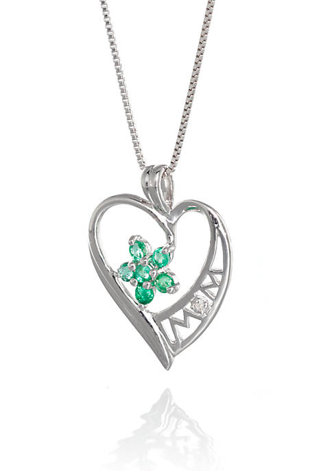 Belk & Co. Sterling Silver Emerald and Diamond
