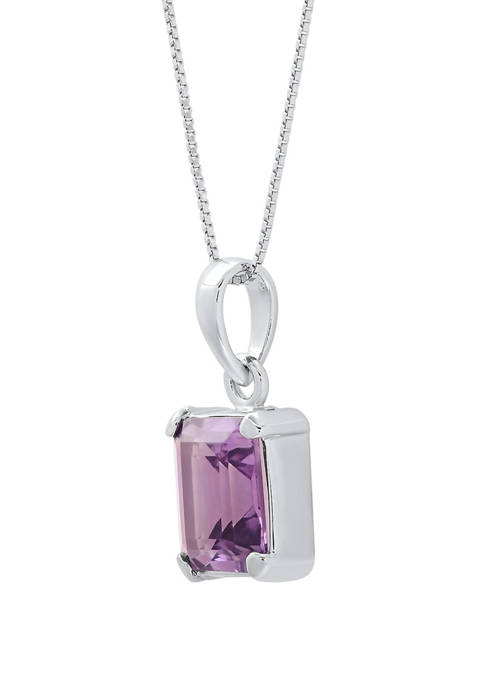 2 ct. t.w. Amethyst Pendant Necklace in Sterling Silver