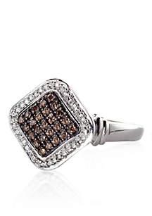 Mocha Diamond Ring in Sterling Silver