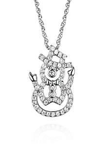 Platinum Plated Snowman Pendant