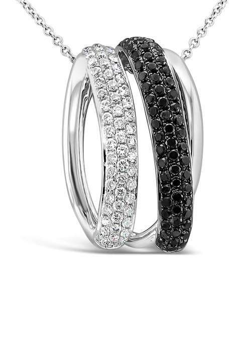 7/8 ct. t.w. Black and Vanilla Diamonds® Pendant Necklace in 14K Vanilla Gold®