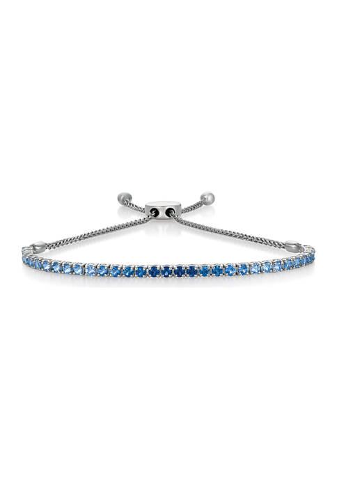 2 ct. t.w. Denim Sapphire and 1/10 ct. t.w. Vanilla Diamond® Ombré Bracelet in 14K Vanilla Gold®