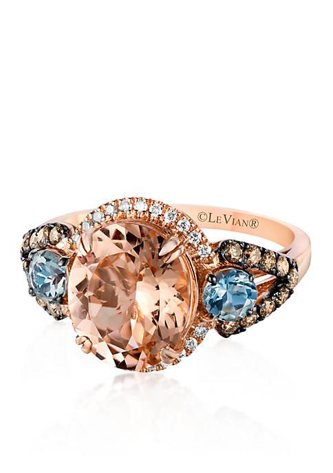 Le Vian® 14k Strawberry Gold® Morganite, Sea Blue