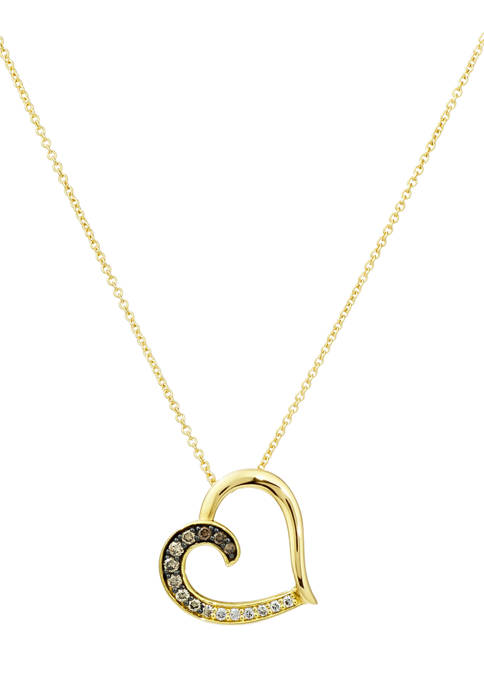 1/6 ct. t.w. Diamond Pendant Necklace in 14K Yellow Gold