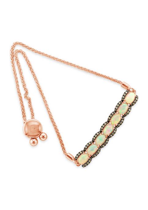 Le Vian® 3/8 ct. t.w. Diamond and Opal