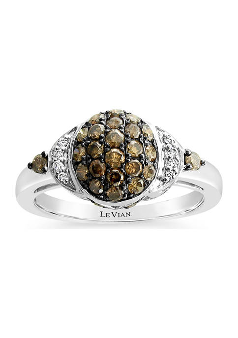 Chocolatier® Ring with 5/8 ct. t.w. Chocolate Diamonds®and Vanilla Diamonds® in 14K Vanilla Gold®