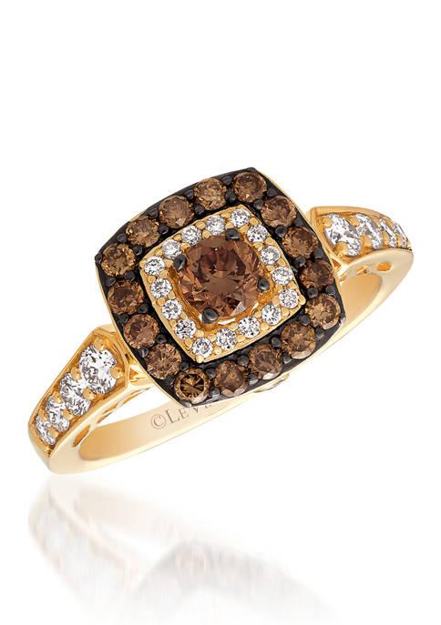 Chocolatier® Ring featuring 5/8 ct. t.w. Chocolate Diamonds®, 1/3 ct. t.w. Vanilla Diamonds® in 14K Honey Gold™