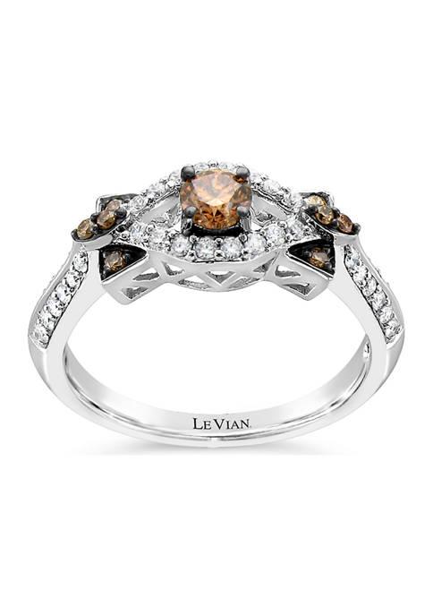 Chocolatier® Ring with 1/2 ct. t.w. Chocolate Diamonds® and Vanilla Diamonds® in 14K Vanilla Gold®