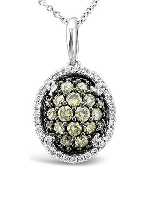 Chocolatier® Pendant Necklace with 3/4 ct. t.w. Chocolate Diamonds® and Vanilla Diamonds® in 14K Vanilla Gold®