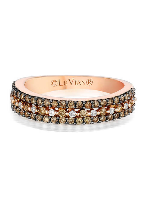 Bridal® Ring with 1/2 ct. t.w. Chocolate Diamonds® and 1/15 ct. t.w. Vanilla Diamonds® set in 14K Strawberry Gold®