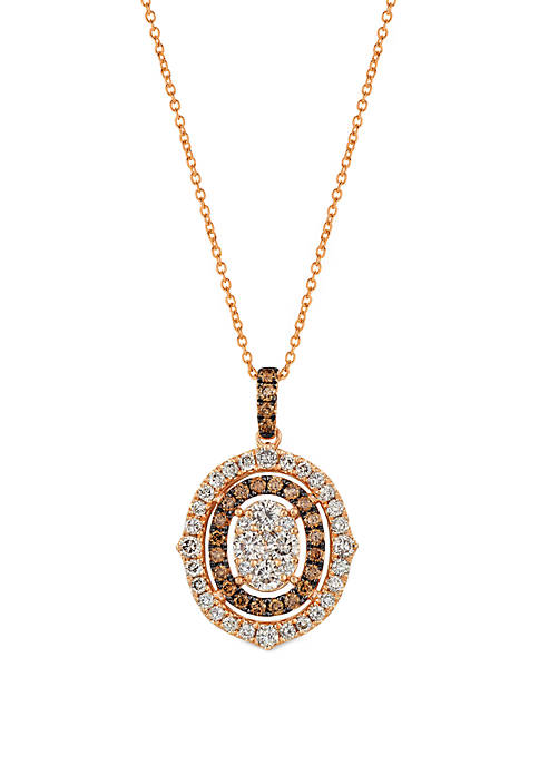 1.33 ct. t.w. Diamonds Smokey Brown Diamond Pendant in 14k Rose Gold
