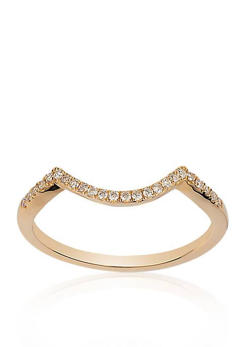 Vanilla Diamond® Wedding Band in 14k Honey Gold™ - Belk Exclusive