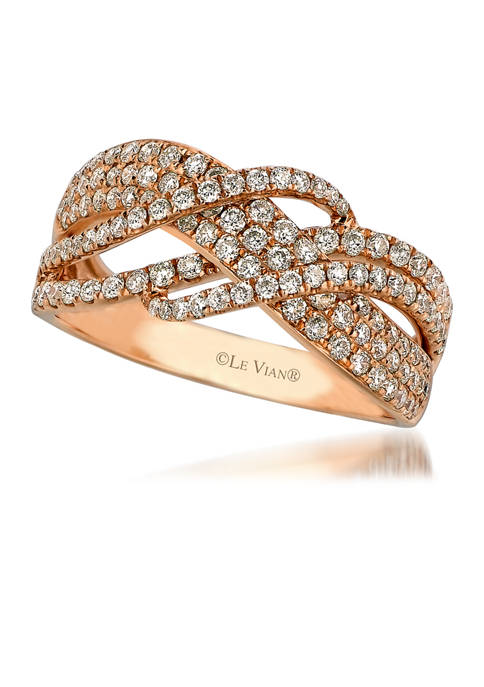 Ring featuring 7/8 ct. t.w. Vanilla Diamonds®  set in 14K Strawberry Gold®