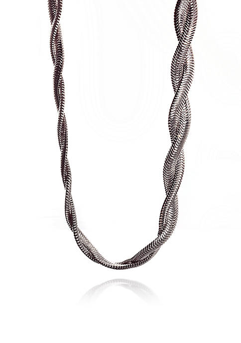 Belk & Co. Sterling Silver Braided Snake Chain