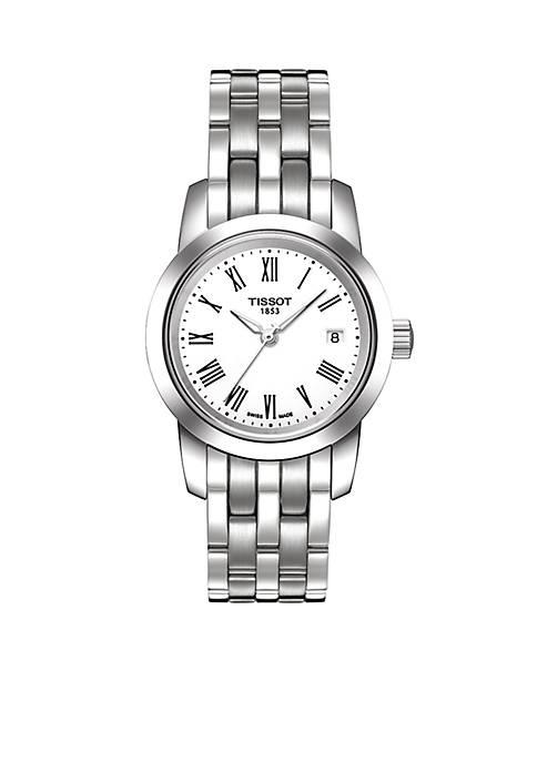 Classic Dream White Quartz Stainless Steel Watch