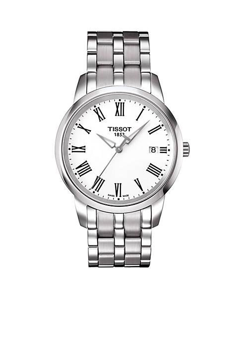 Classic Dream Mens White Quartz Stainless Steel Watch