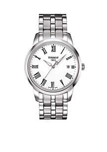 Classic Dream Men's White Quartz Stainless Steel Watch