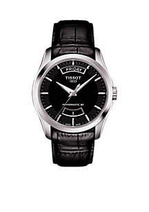 Men's Couturier Powermatic 80 Leather Watch