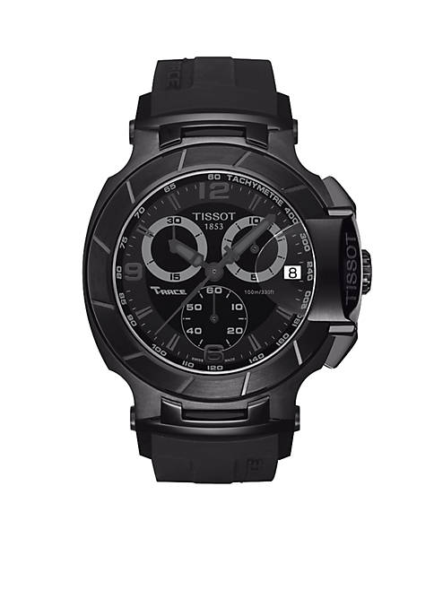Tissot Mens T-Race Black Quartz Chronograph Sport Watch
