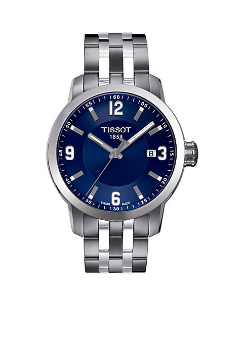 Tissot Mens PRC 200 Stainless Steel and Blue