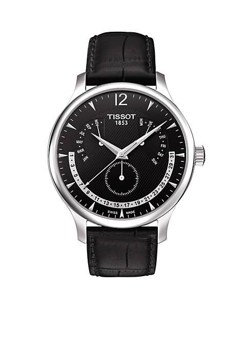 Tradition Mens Black Quartz Classic watch