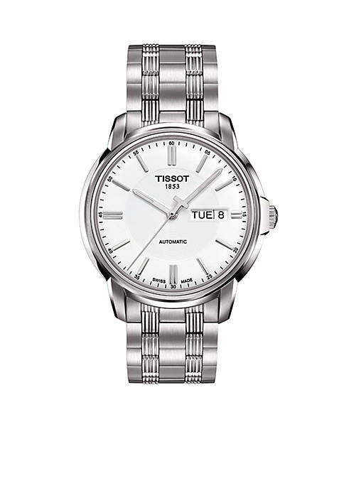 Tissot Mens Automatic III Classic White Automatic Watch
